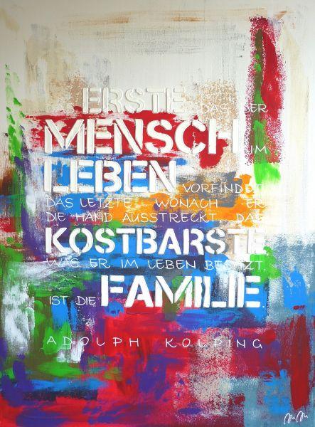"""Kolping-Kunst – Motiv: """"Das erste, das der Mensch im Leben vorfindet,..."""""""