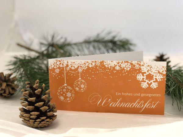 10er-Set Weihnachtskarte mit Reliefdruck inkl. Umschlag