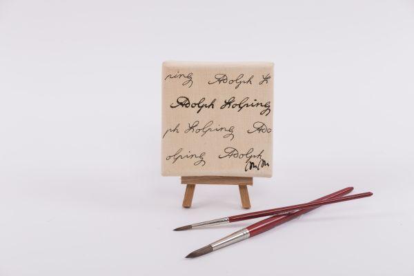"""Kolping-Kunst im Quadrat – Motiv """"Kolping Signatur"""""""