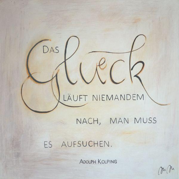 "Kolping-Kunst – Motiv: ""Das Glück läuft niemandem nach..."""